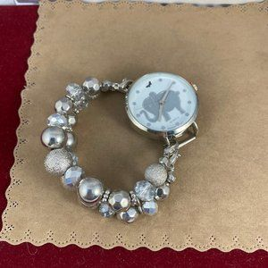 Vintage Accessories - Child's Watch Elephants Always Remember Silver
